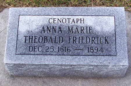 FRIEDRICK, ANNA MARIE - Shelby County, Iowa | ANNA MARIE FRIEDRICK