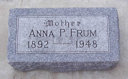 FRUM, ANNA P. (MOTHER) - Shelby County, Iowa | ANNA P. (MOTHER) FRUM