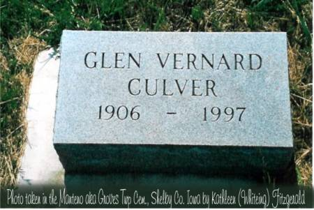 CULVER, GLEN VERNARD - Shelby County, Iowa | GLEN VERNARD CULVER