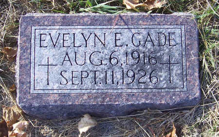 GADE, EVELYN E. - Shelby County, Iowa | EVELYN E. GADE