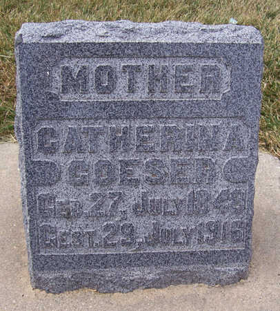 GOESER, CATHERINA (MOTHER) - Shelby County, Iowa | CATHERINA (MOTHER) GOESER