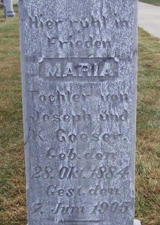 GOESER, MARIA (CLOSE UP) - Shelby County, Iowa   MARIA (CLOSE UP) GOESER
