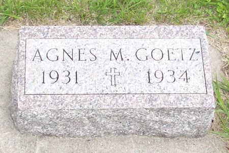 GOETZ, AGNES M. - Shelby County, Iowa | AGNES M. GOETZ