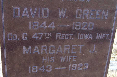 GREEN, DAVID W. (MILITARY)(CLOSE-UP) - Shelby County, Iowa | DAVID W. (MILITARY)(CLOSE-UP) GREEN