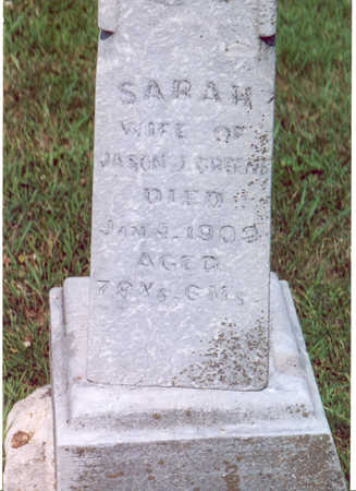 GREENE, SARAH - Shelby County, Iowa | SARAH GREENE
