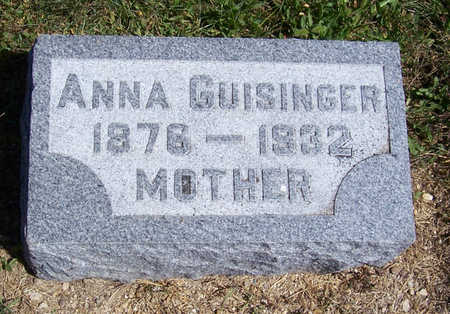 GUISINGER, ANNA (MOTHER) - Shelby County, Iowa | ANNA (MOTHER) GUISINGER