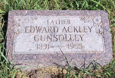 GUNSOLLEY, EDWARD ACKLEY - Shelby County, Iowa | EDWARD ACKLEY GUNSOLLEY