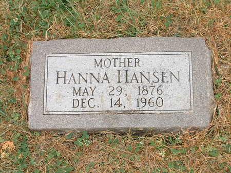 HANSEN, HANNA - Shelby County, Iowa | HANNA HANSEN