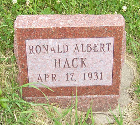 HACK, RONALD ALBERT - Shelby County, Iowa | RONALD ALBERT HACK