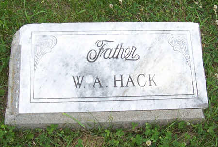 HACK, W. A. - Shelby County, Iowa | W. A. HACK