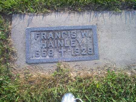 HAINLEY, FRANCIS W.   (FRANCIS WILLIAM) - Shelby County, Iowa   FRANCIS W.   (FRANCIS WILLIAM) HAINLEY
