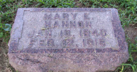 HANNON, MARY E. - Shelby County, Iowa | MARY E. HANNON