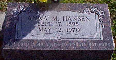 HANSEN, ANNA M - Shelby County, Iowa | ANNA M HANSEN