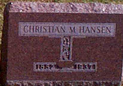 HANSEN, CHRISTIAN M - Shelby County, Iowa | CHRISTIAN M HANSEN