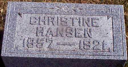 HANSEN, CHRISTINE - Shelby County, Iowa | CHRISTINE HANSEN