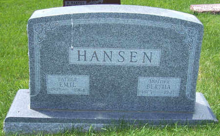 HANSEN, BERTHA - Shelby County, Iowa | BERTHA HANSEN