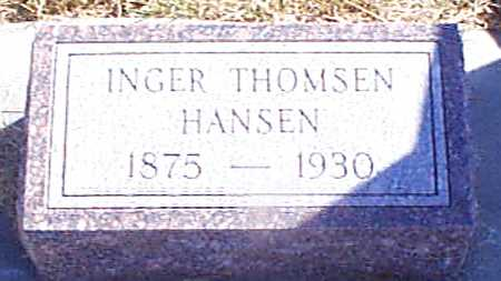 THOMSEN HANSEN, INGER - Shelby County, Iowa | INGER THOMSEN HANSEN
