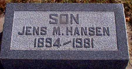 HANSEN, JENS M - Shelby County, Iowa | JENS M HANSEN