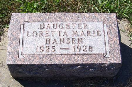 HANSEN, LORETTA MARIE - Shelby County, Iowa | LORETTA MARIE HANSEN