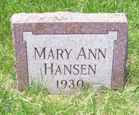 HANSEN, MARY ANN - Shelby County, Iowa | MARY ANN HANSEN