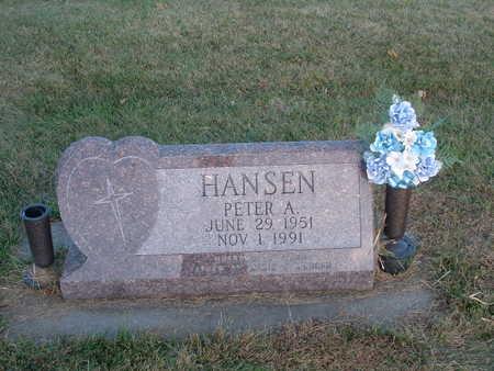 HANSEN, PETER A - Shelby County, Iowa   PETER A HANSEN