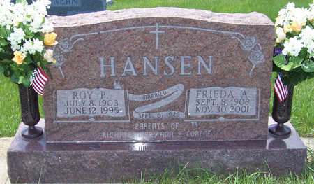 HANSEN, ROY PETER - Shelby County, Iowa | ROY PETER HANSEN