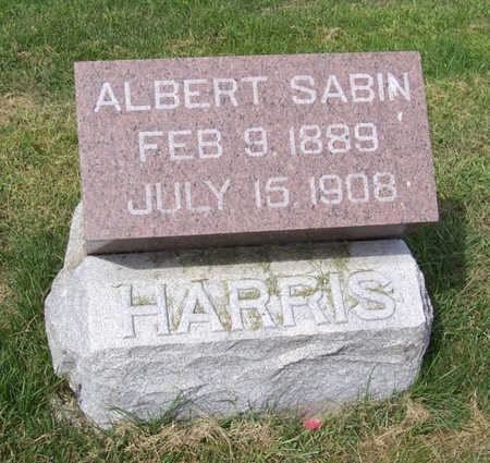 HARRIS, ALBERT SABIN - Shelby County, Iowa | ALBERT SABIN HARRIS