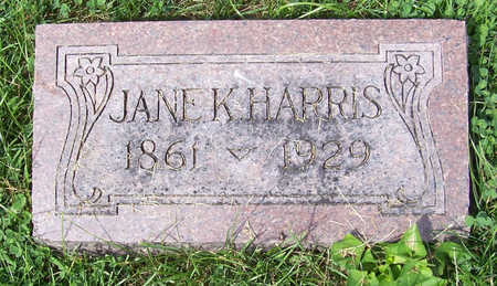 HARRIS, JANE K. - Shelby County, Iowa | JANE K. HARRIS