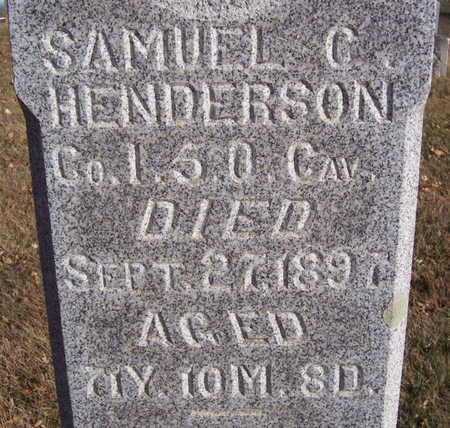 HENDERSON, SAMUEL C. (MILITARY) (CLOSE-UP) - Shelby County, Iowa | SAMUEL C. (MILITARY) (CLOSE-UP) HENDERSON