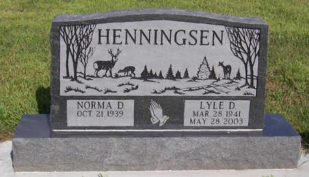 HENNINGSEN, NORMA D. - Shelby County, Iowa | NORMA D. HENNINGSEN