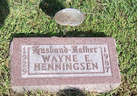 HENNINGSEN, WAYNE E. (MILITARY) - Shelby County, Iowa   WAYNE E. (MILITARY) HENNINGSEN