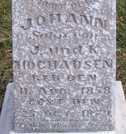 HOCHAUSEN, JOHANN (CLOSE UP) - Shelby County, Iowa | JOHANN (CLOSE UP) HOCHAUSEN
