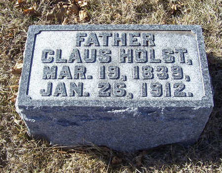 HOLST, CLAUS (FATHER) - Shelby County, Iowa | CLAUS (FATHER) HOLST