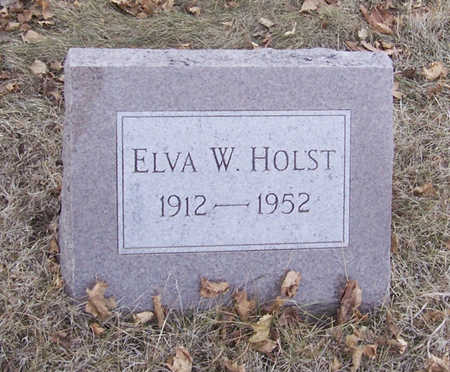 HOLST, ELVA W. - Shelby County, Iowa | ELVA W. HOLST