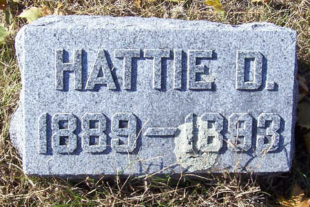 HUGHES, HATTIE D. - Shelby County, Iowa | HATTIE D. HUGHES