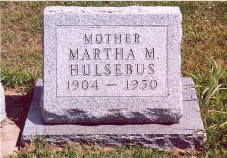 HULSEBUS, MARTHA M. - Shelby County, Iowa | MARTHA M. HULSEBUS