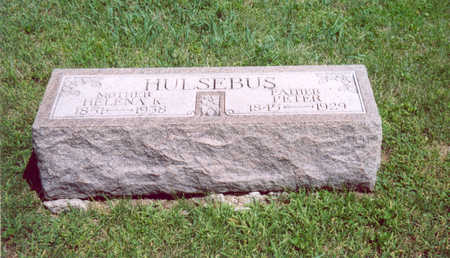 HULSEBUS, PETER - Shelby County, Iowa | PETER HULSEBUS