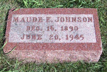 JOHNSON, MAUDE E. - Shelby County, Iowa | MAUDE E. JOHNSON