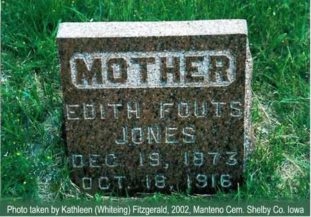 JONES, EDITH - Shelby County, Iowa | EDITH JONES