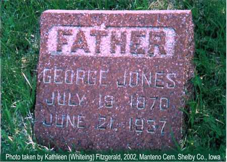 JONES, GEORGE - Shelby County, Iowa | GEORGE JONES