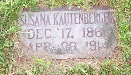 KAUTENBERGER, SUSANNA - Shelby County, Iowa | SUSANNA KAUTENBERGER