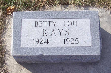KAYS, BETTY LOU - Shelby County, Iowa | BETTY LOU KAYS