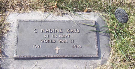KAYS, C. NADINE (MILITARY) - Shelby County, Iowa | C. NADINE (MILITARY) KAYS