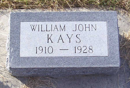 KAYS, WILLIAM JOHN - Shelby County, Iowa | WILLIAM JOHN KAYS