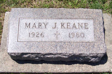 KEANE, MARY J. - Shelby County, Iowa | MARY J. KEANE