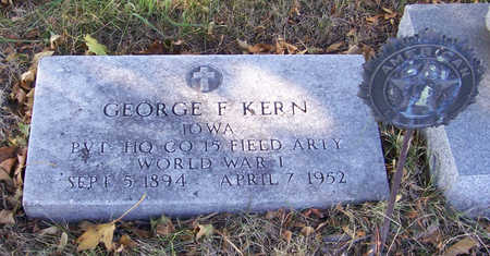 KERN, GEORGE F. (MILITARY) - Shelby County, Iowa | GEORGE F. (MILITARY) KERN