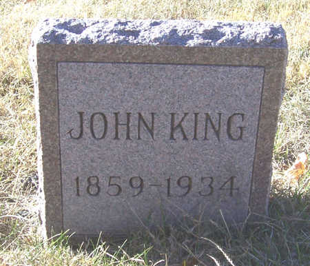 KING, JOHN - Shelby County, Iowa | JOHN KING