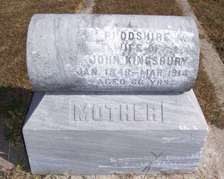 KINGSBURY, RHODSHIRE A. - Shelby County, Iowa | RHODSHIRE A. KINGSBURY