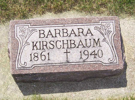 KIRSCHBAUM, BARBARA - Shelby County, Iowa | BARBARA KIRSCHBAUM