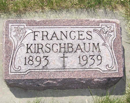 KIRSCHBAUM, FRANCES - Shelby County, Iowa | FRANCES KIRSCHBAUM